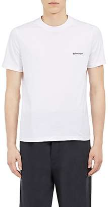 Balenciaga Men's Logo Cotton Jersey T-Shirt $350 thestylecure.com