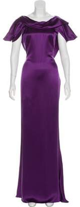 Alexander McQueen Silk Maxi Gown w/ Tags Violet Silk Maxi Gown w/ Tags