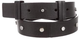 Vince Leather Studded Belt