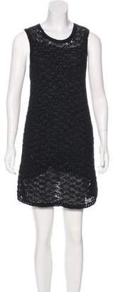 Theyskens' Theory Open Knit Mini Dress