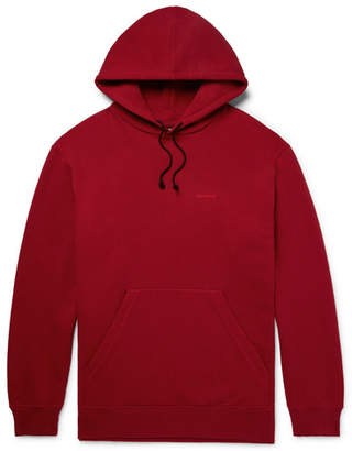 Calvin Klein Oversized Embroidered Loopback Cotton-Jersey Hoodie