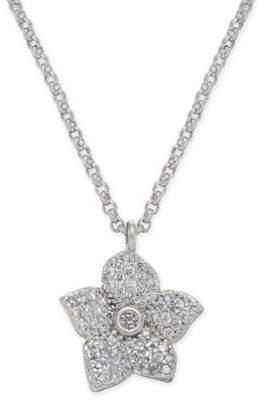 "Kate Spade Pavé Bloom Pendant Necklace, 17"" + 3"" extender"