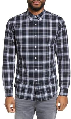 Slate & Stone Trim Fit Ombre Plaid Sport Shirt