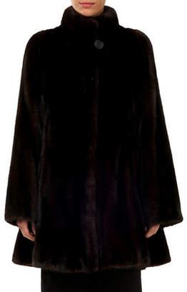 Gorski Mink Fur Stroller Coat w/ Skirt Bottom