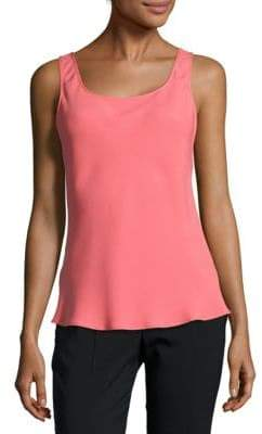 Lafayette 148 New York Bias-Cut Silk Tank