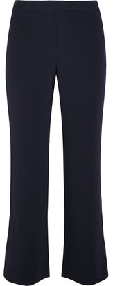 Helmut Lang - Cropped Stretch-crepe Flared Pants - Navy $345 thestylecure.com