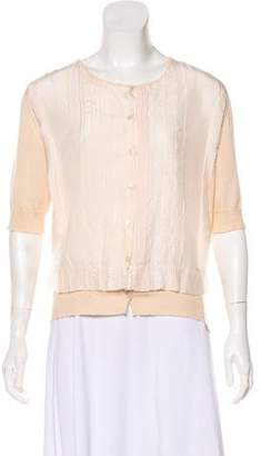 Nina Ricci Cashmere Lace-Accented Sweater