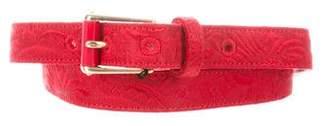 Dolce & Gabbana Velvet Woven Belt w/ Tags