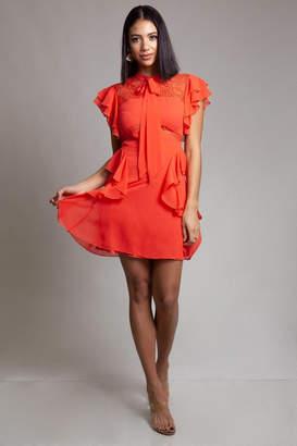 Latiste Ruffle Lace Dress