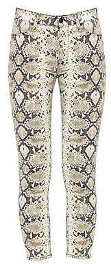Hudson Jeans Women's High-Waist Ankle Skinny Python-Print Jeans