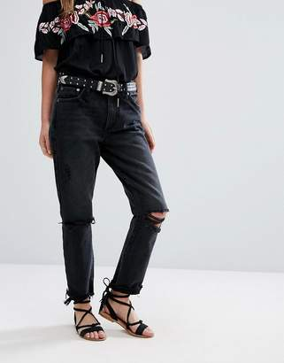 Lovers + Friends Logan High Waist Tapered Jean