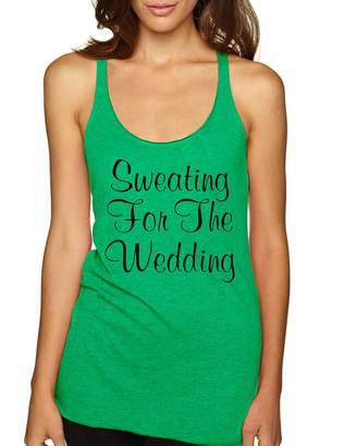 Allntrends Women's Tank Top Sweating For The Wedding Cool Fitness Top (L, )