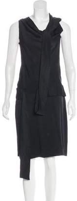 Alexander McQueen Draped Silk Dress
