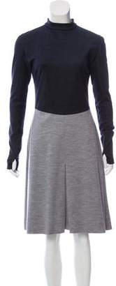 Derek Lam Colorblock Knee-Length Dress