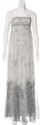 Marchesa Embellished Maxi Dress