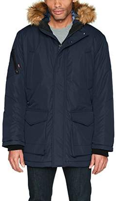 Hawke & Co Men's Heavyweight Parka Jacket With Removable Hood