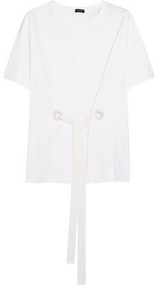 Joseph Eyelet-embellished Cotton-jersey T-shirt - White