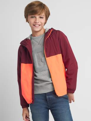Gap Jersey-Lined Colorblock Windbuster