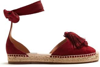 Aquazzura Love Tassel ankle-tie espadrilles
