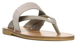 Vince Tess Leather & Suede Thong Sandals $175 thestylecure.com