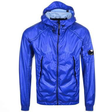 C.P. Company Hooded Rubber Jacket Blue