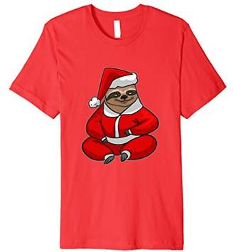 Funny Sloth Santa T Shirt Christmas Gifts Kids Boys Girls