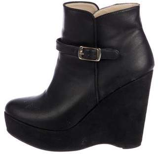 Stella McCartney Vegan Leather Platform Ankle Booties