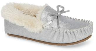 Tucker + Tate Mila Faux Fur Moccasin Slipper