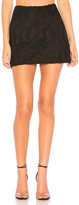 Bailey 44 Conspiracy Crochet Suede Skirt