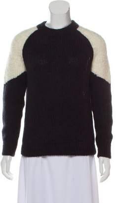 LES COYOTES DE PARIS Colorblock Rib Knit Sweater