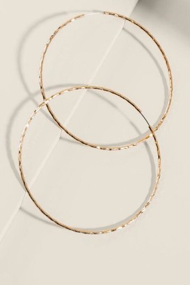 francesca's Lucy Large Gold Hoops - Gold