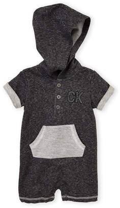 Calvin Klein Jeans Infant Boys) Hooded Bodysuit