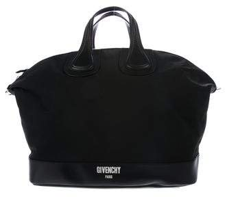 Givenchy Leather-Trimmed Nightingale Satchel
