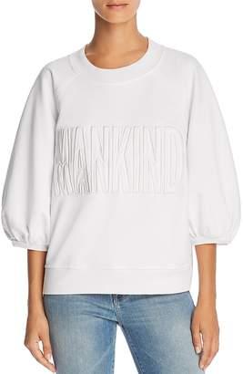 7 For All Mankind Puff-Sleeve Logo Sweatshirt