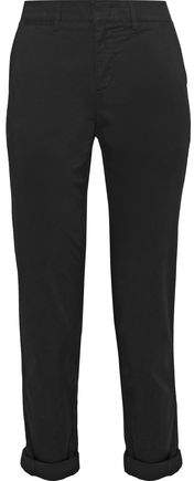 Vince. Cropped Cotton-Blend Tapered Pants