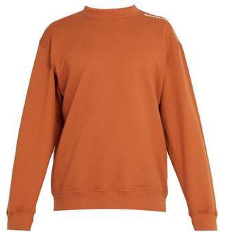 Eckhaus Latta Logo Print Recycled Cotton Jersey Sweatshirt - Mens - Orange