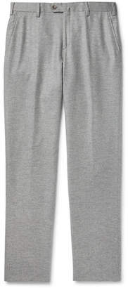 Loro Piana Slim-Fit Melange Cashmere Trousers - Gray
