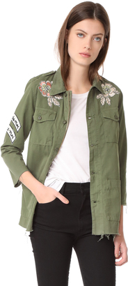 MOTHER Top Brass Fray Jacket $348 thestylecure.com