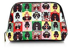 Alice + Olivia Women's Nikki Stacey Face Photobooth Cosmetic Case