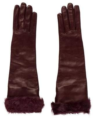 Dolce & Gabbana Leather Long Gloves