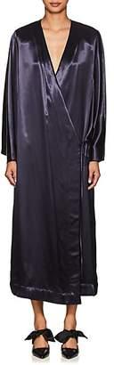 The Row Women's Impu Satin Kimono Jacket - Indigo
