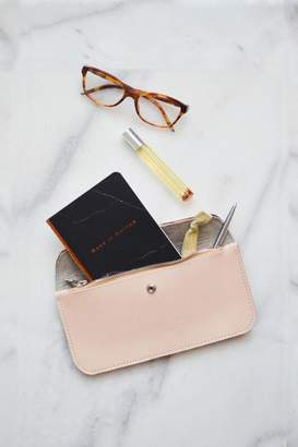 Dime & Regal Natural-Tan Leather Clutch