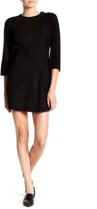 Frame Suede 3/4 Sleeve Mini Dress