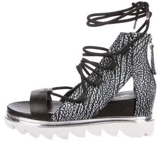 United Nude Embossed Leather Lace-Up Sandals