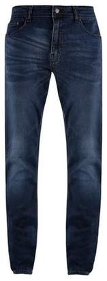 Mens Big & Tall Blue Overdye Tyler Skinny Fit Jeans
