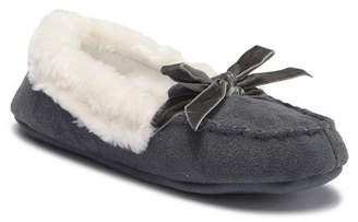Jessica Simpson Velvet Faux Fur Moccasin