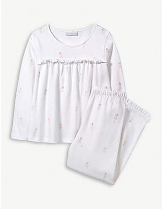 The Little White Company Fairy-print cotton pyjama set 1-6 years