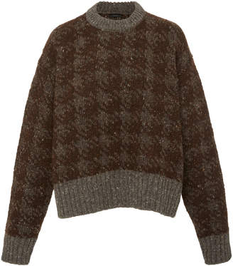 Joseph Two-Tone Houndstooth Wool Sweater