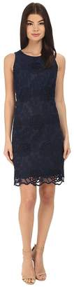 Donna Morgan Embroidered A-Line Trapeze Dress Women's Dress