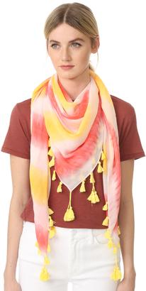 Rebecca Minkoff Tie Dye Square Scarf $58 thestylecure.com